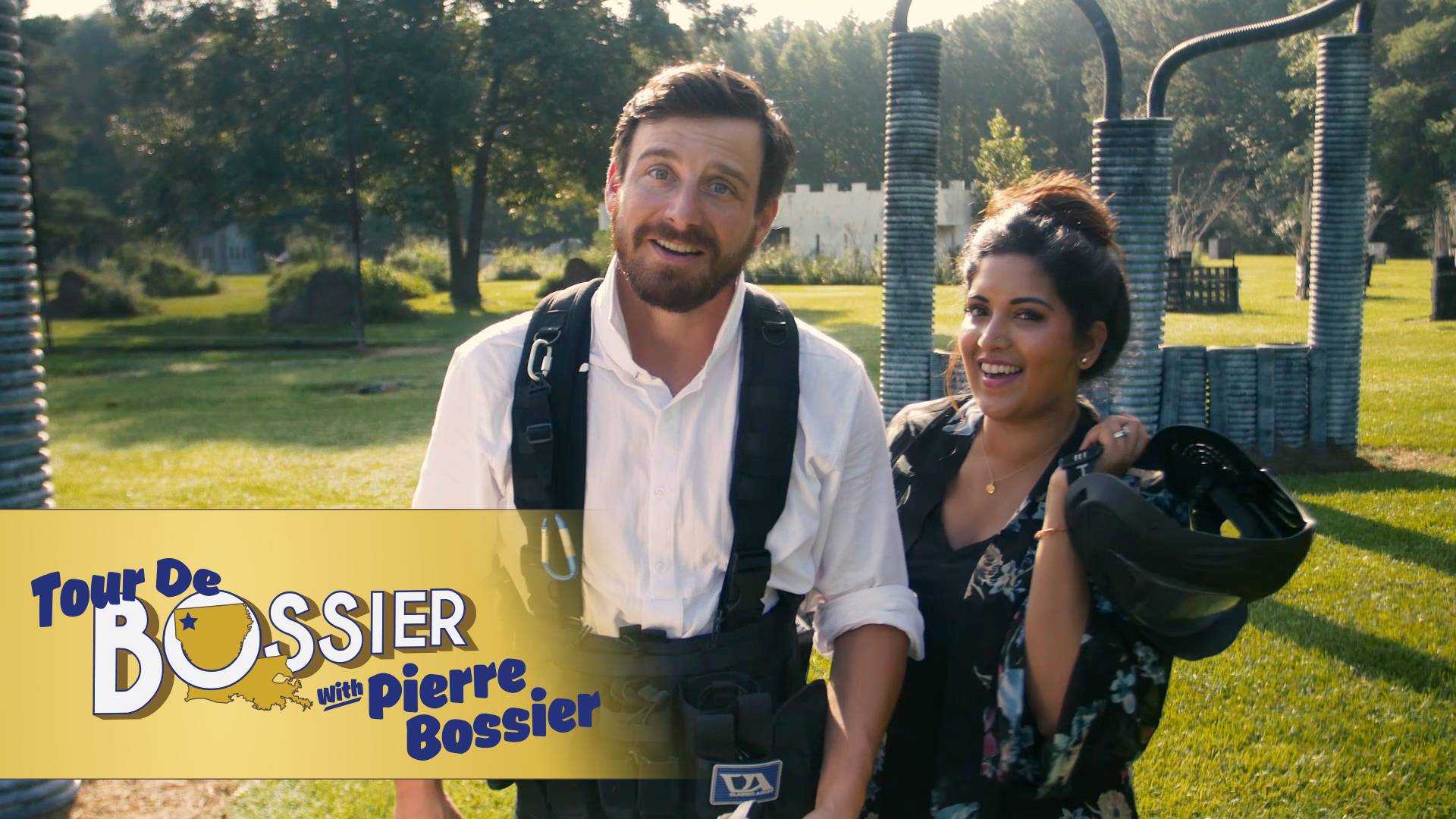 Tour De Bossier with Pierre Bossier - SO OMG! I got to be a part of this fantastic 5-part webseries called Tour du Bossier with Pierre Bossier! In it, I play a filmmaker who has apparently successfully googled time travel and brought 1864 Pierre Bossier forward in time!