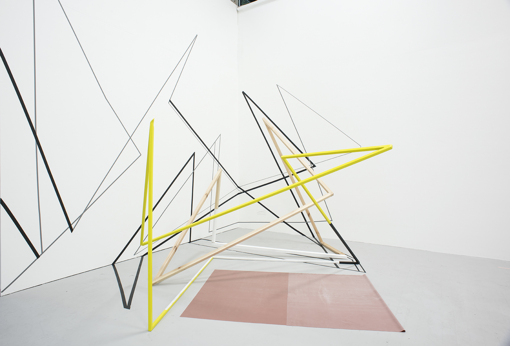 Andrea V Wright - Vertical Ascension - Steel, Wood, Paint, Tape & Latex Rubber - 330 x 260 x 290 - 2017 - £2,800 .jpg