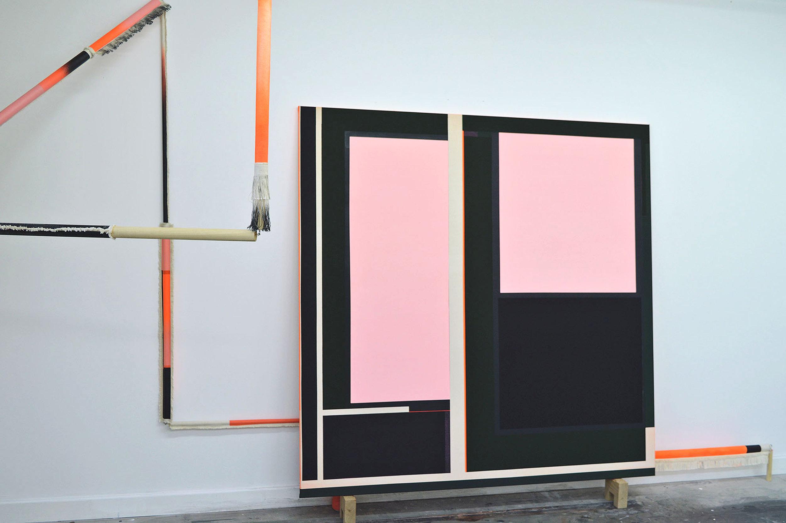 Andrea Medjesi-Jones, Pinkpaintingmachine 2, 2017.jpg