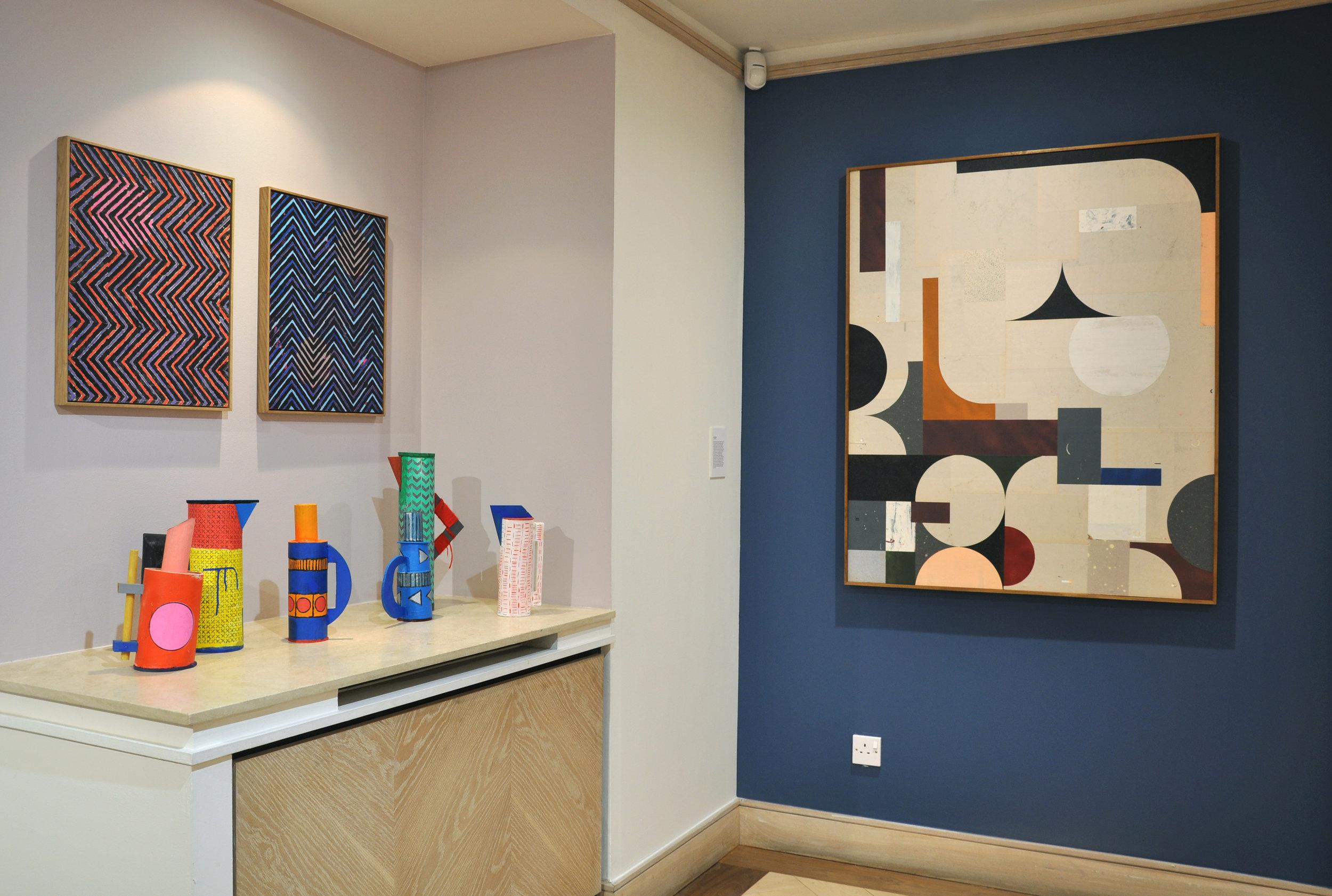 Domininc Beattie and Fabio Almeida.Installation at Collyer Bristow Gallery. Photo courtesy of Michaela Nettell.DSC_7566.jpg