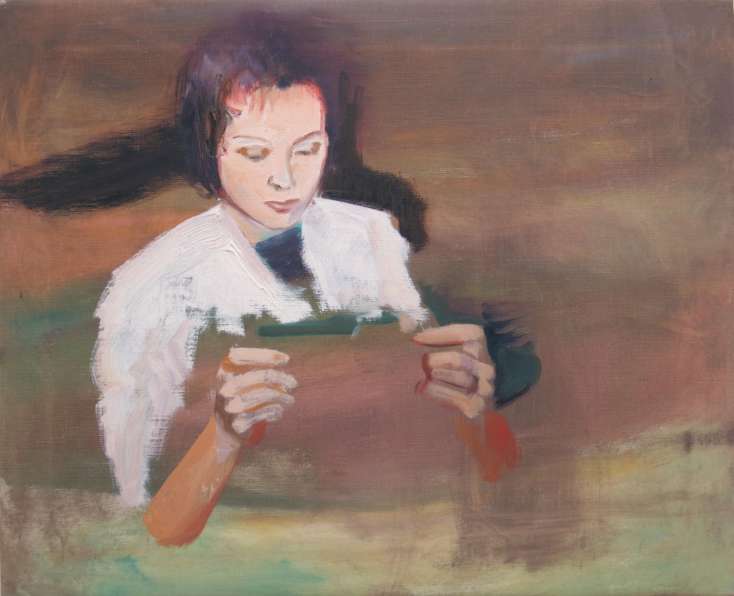 Robin Dixon.Engineer - oil on canvas 2018 45 x 55 cm.JPG