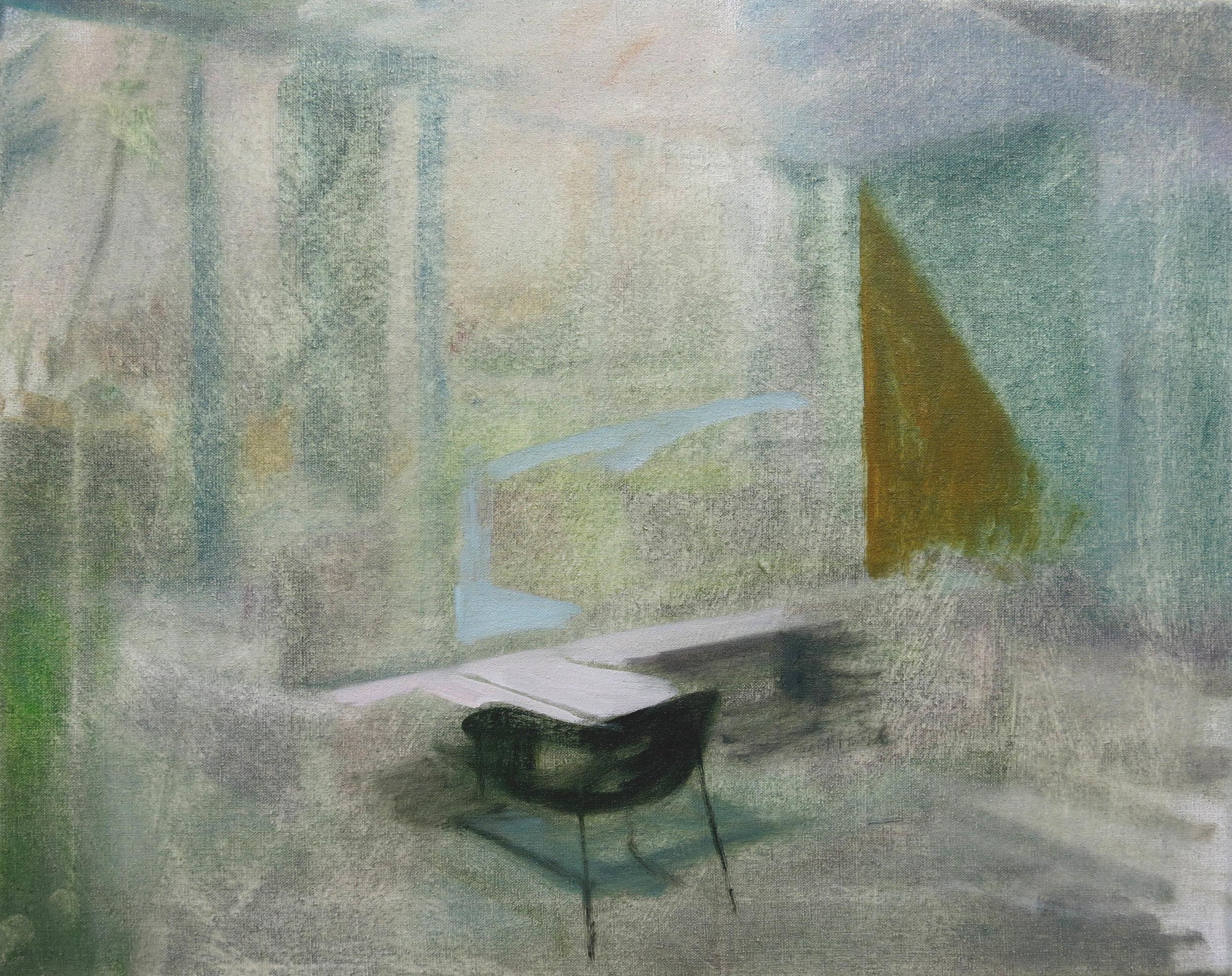 Robin Dixon.Silver - oil on canvas 2016 45 x 55 cm.JPG