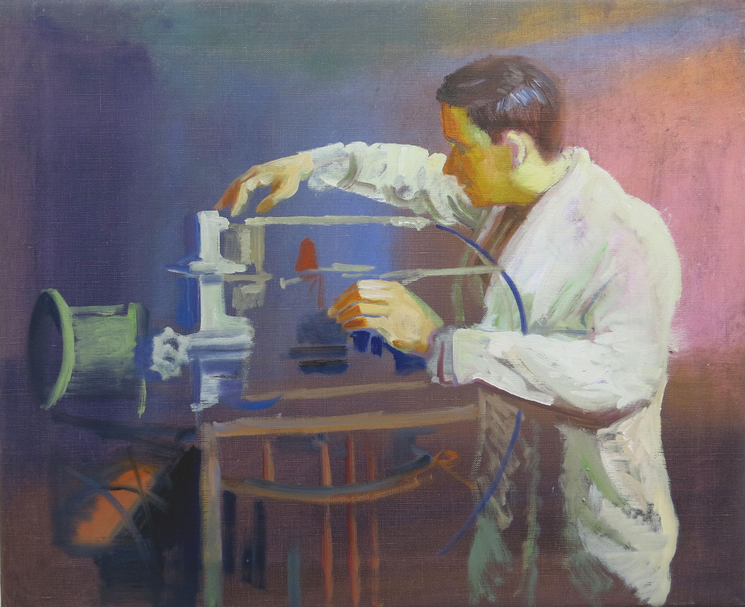 Robin Dixon.Technician - oil on canvas 2018 45 x 55 cm.jpg