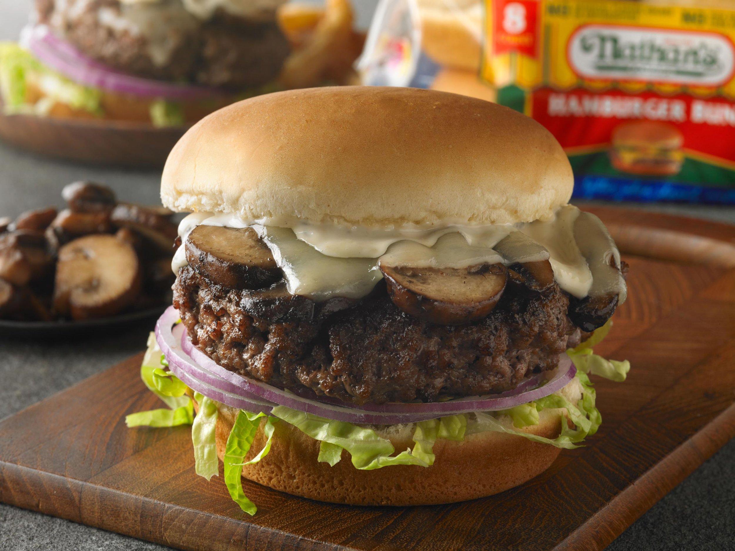 Featuring - Nathan's Famous® hamburger buns