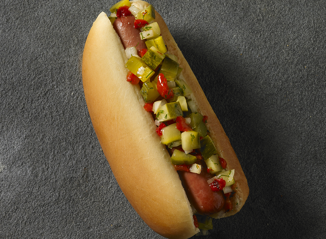 Fresh Pickle Salsa Dogs