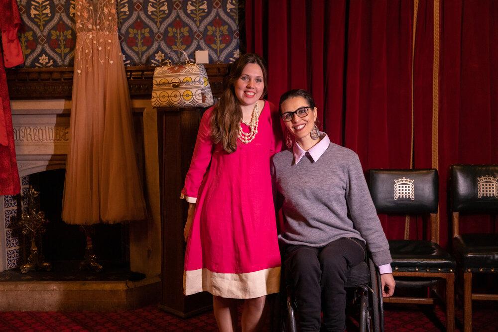 Laura Bossom, founder of Cultiva Clothing with Samanta Bullock