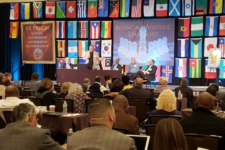 Apostolic leaders speaking at 2018 ICAL International Congress