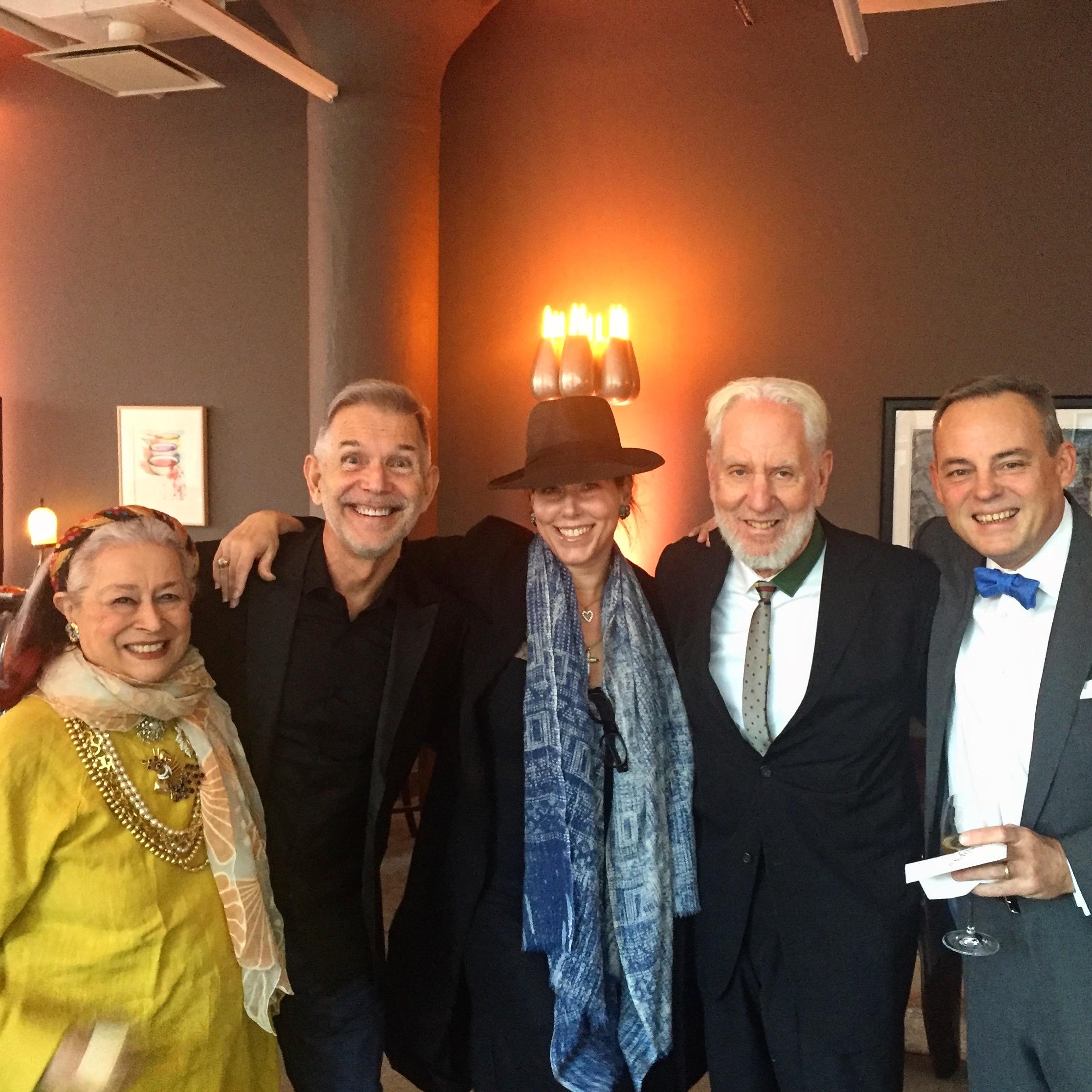 West Coast Editor, Amanda Quinn Olivar (with Joan Agajanian Quinn, Mike Chearney, Lloyd Ziff, and Charlie Schepps, Sotheby's NYC)