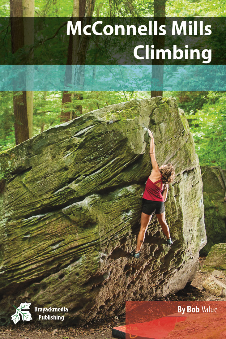 McCOnnells Mill Climbing Guidebook - McConnells Mill is an excellent Top-Rope and Bouldering destination about an hour north of Pittsburgh. Kindly dropped off during the last glacier period, the blocks offer some great climbing opportunities.The McConnells Mill Book contains hundreds of routes and boulders with beautiful action images, detailed maps, and humorous, yet accurate and concise route descriptions.