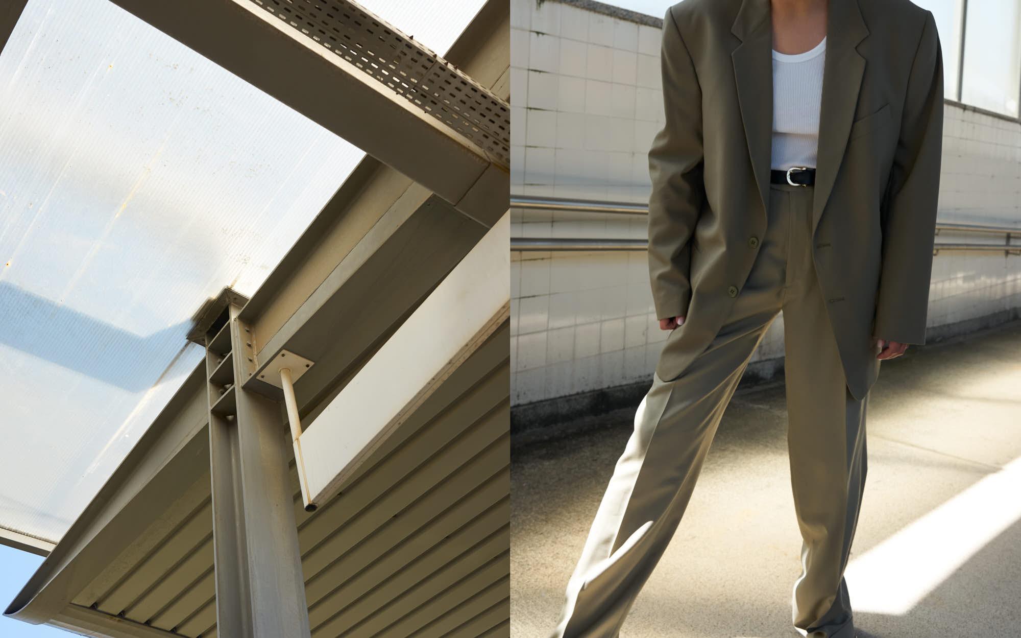 the level vintage menswear blazer pants trousers