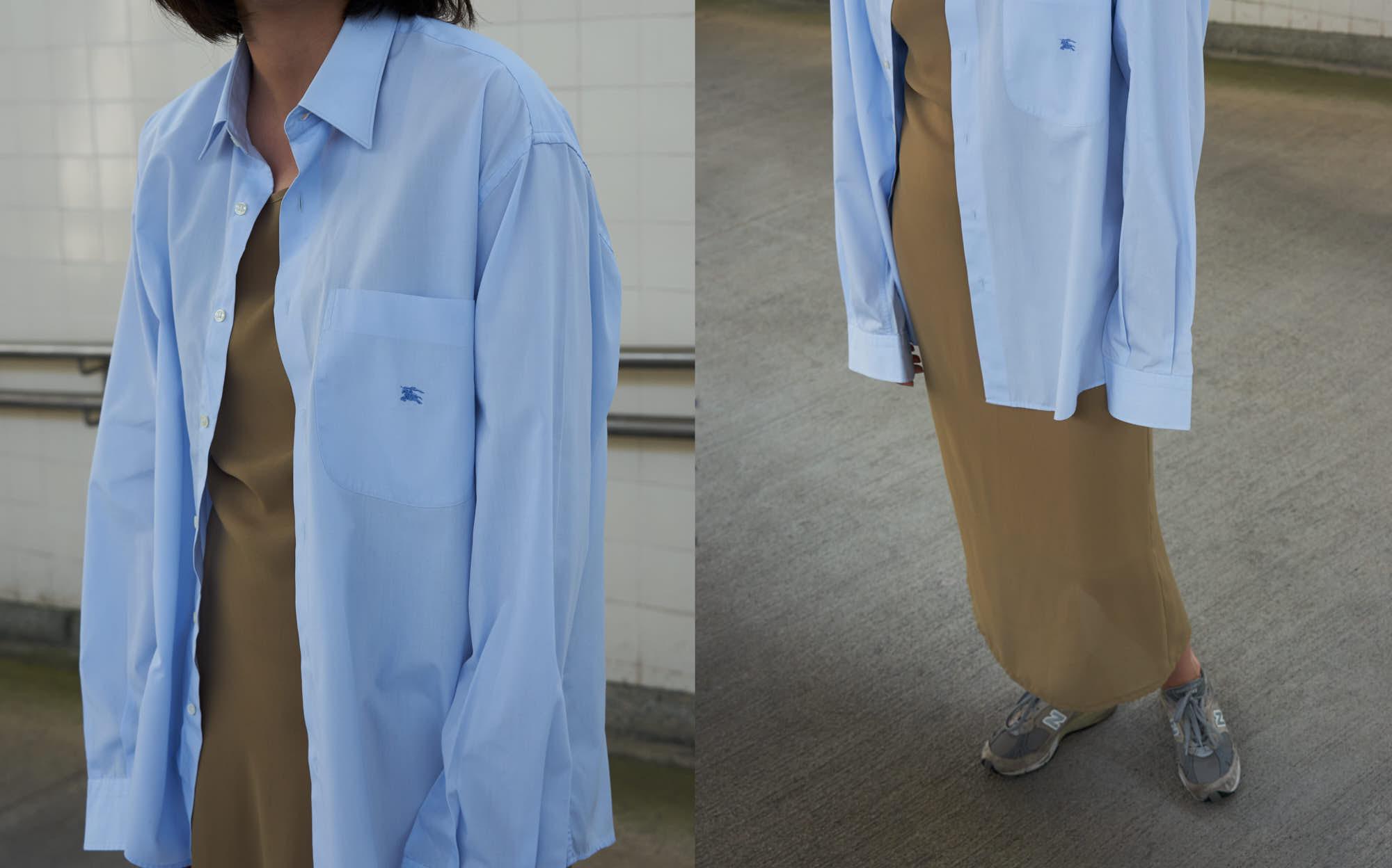 the level vintage menswear dress shirt burberry