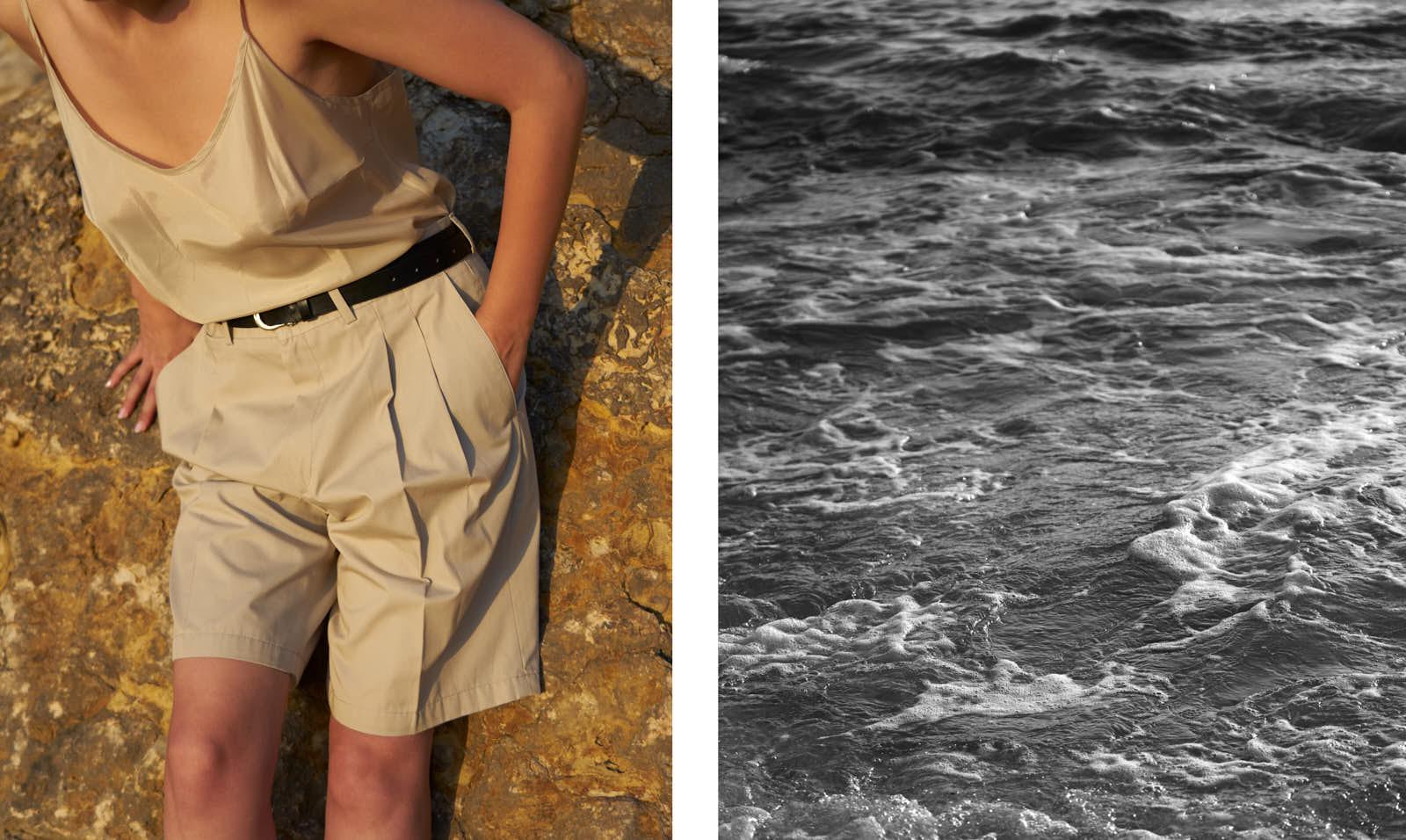 the level vintage menswear pleated shorts oversize minimal sunset
