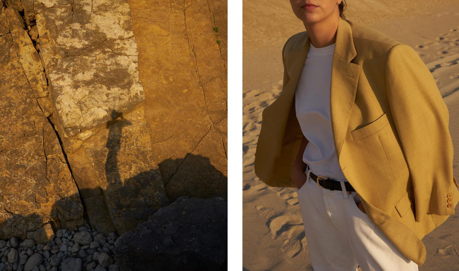 the level vintage menswear blazer oversize minimal sunset