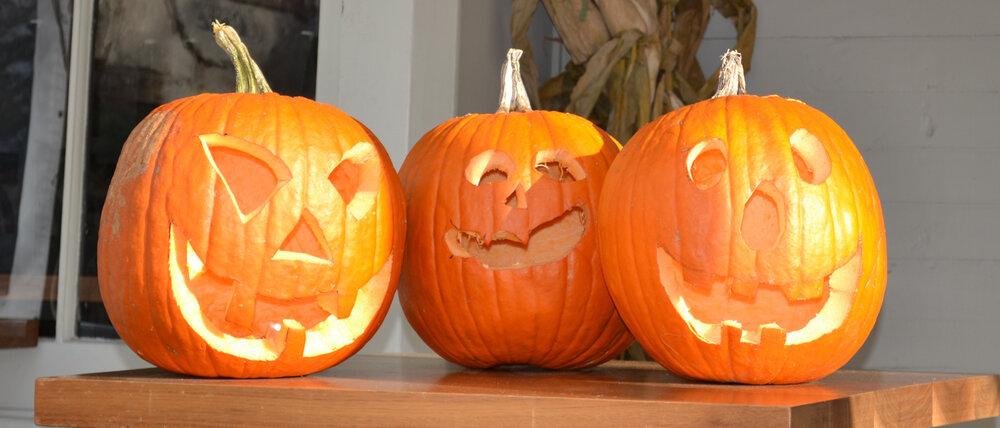 Pumpkins on Millstone porch 2011 rev.jpg