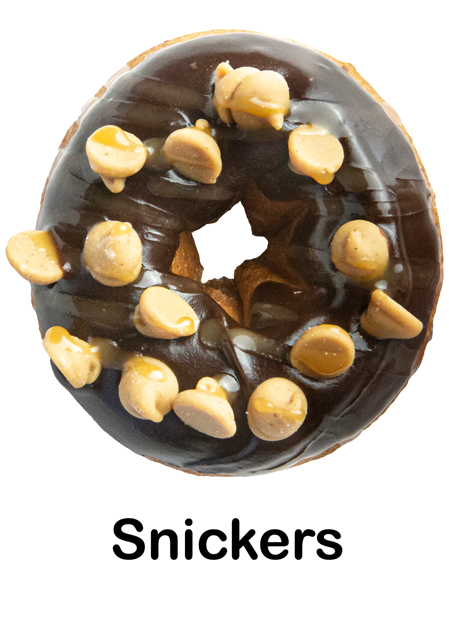 Chocolate Frosting, Peanut Butter Chips, Salted Caramel Drizzle