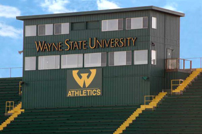 Single and Tw0-story elevated press boxes -