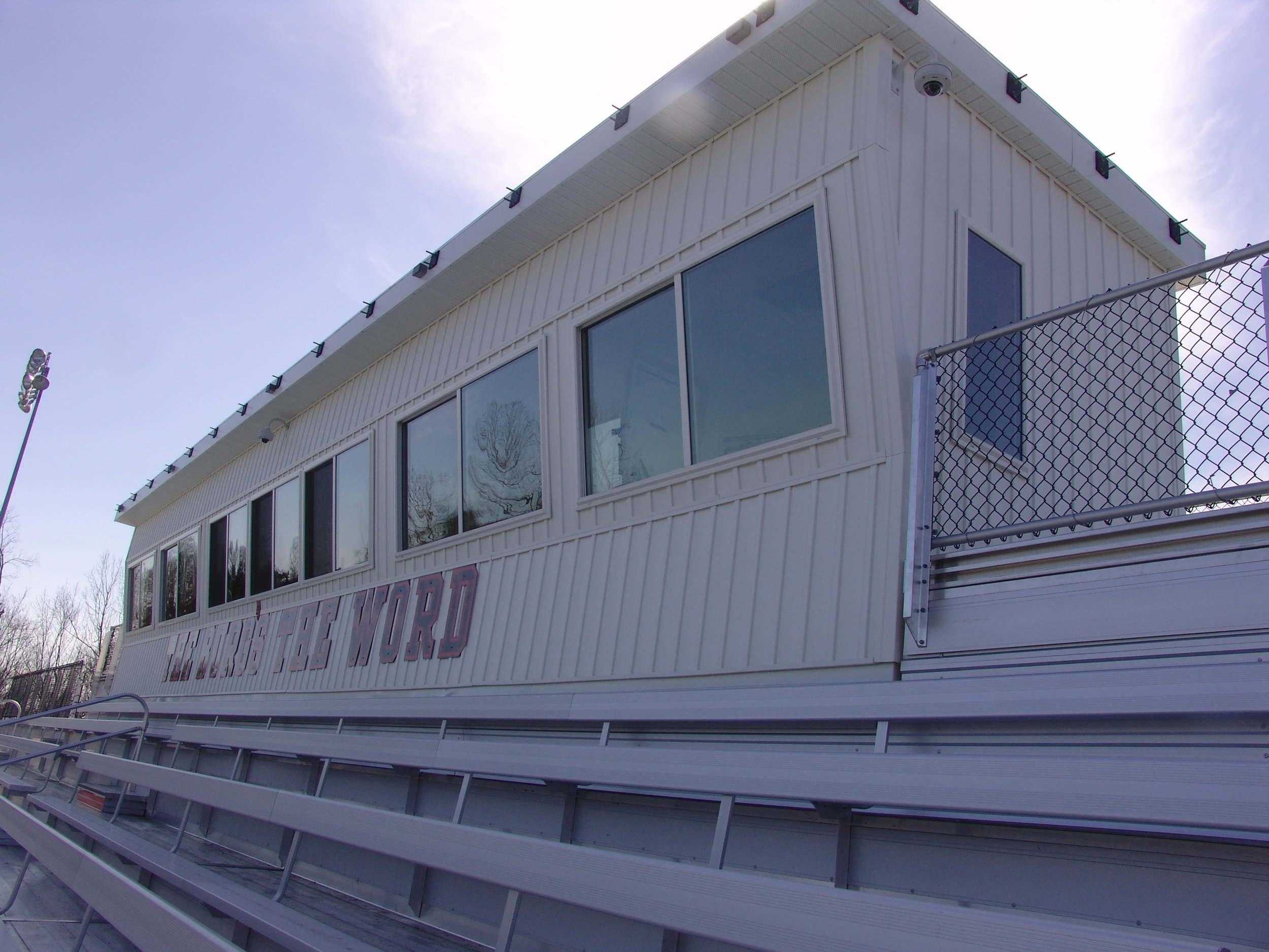 Feature: 6' Sloped Windows on Front of Press Box