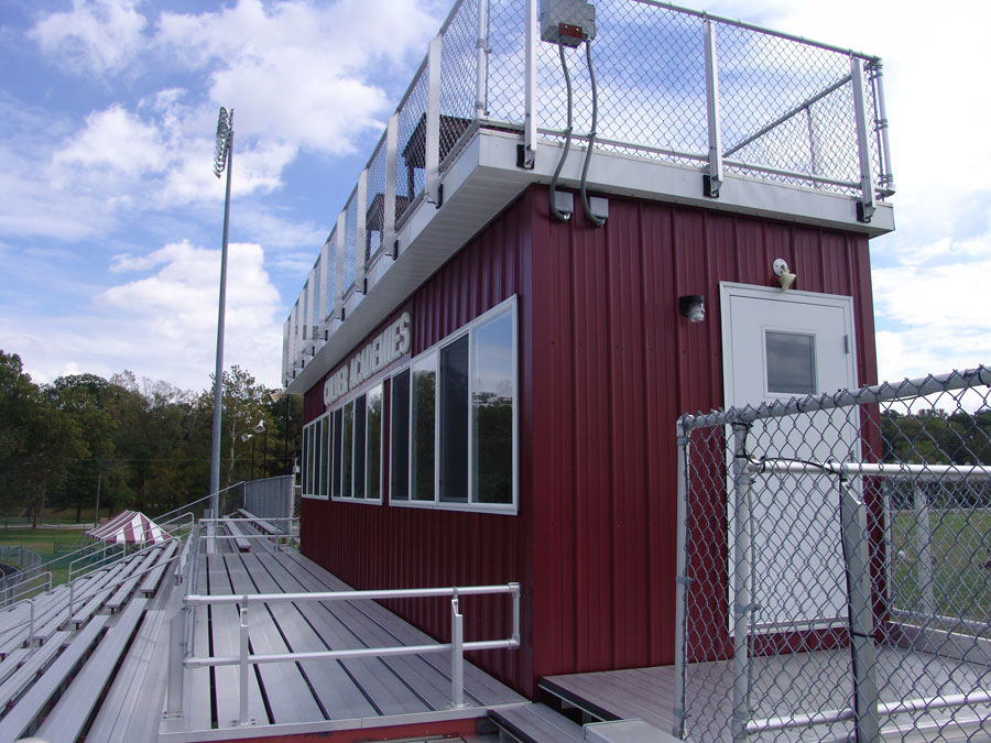 8'W x 36'L Press Box w/Camera Deck, View 2