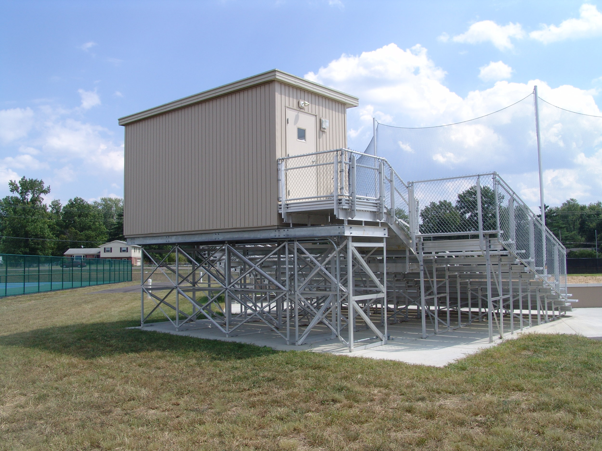 8'W x 18'L Press Box on Aluminum Understructure, View 1