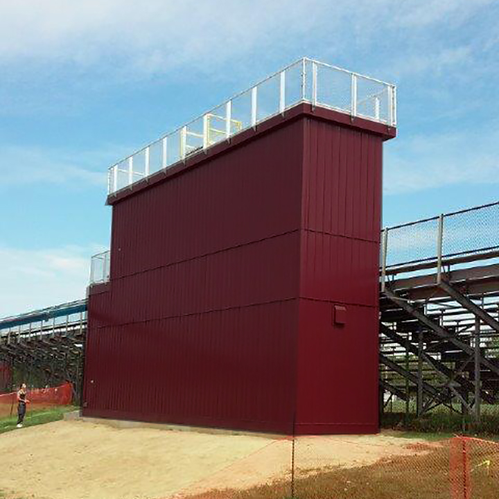 8'W x 36'L Press Box w/1st Floor Storage, View 1