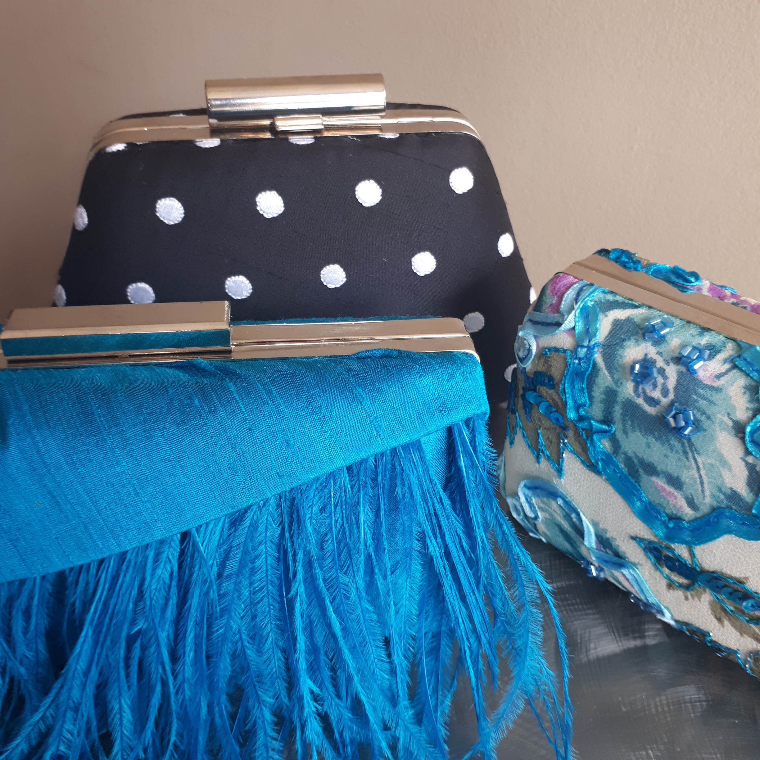 Who needs a clutch - We have our new unique clutches in store and on our new shopping page.
