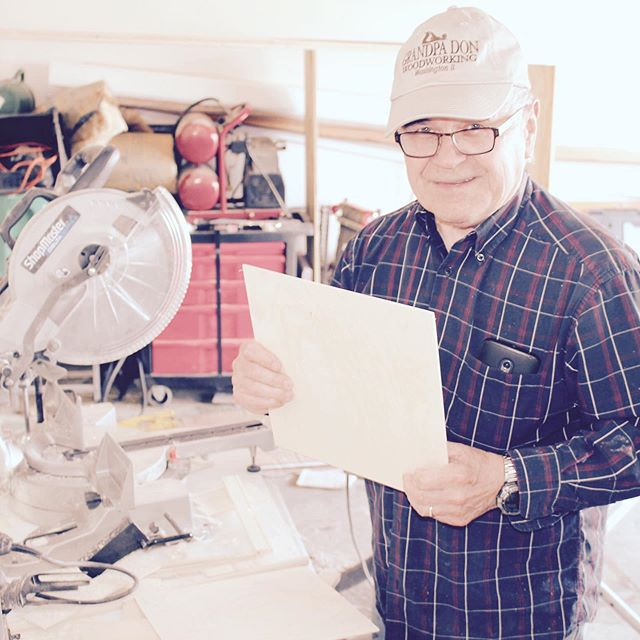 "The man behind our boxes: My father, or, ""Grandpa Don"" 💛 Looking forward to celebrating him on Father's Day! Thanks for keeping him busy. ☺️ #cardinalandfinch #giftboxco #giftideas #giftsforhim #fathersday"