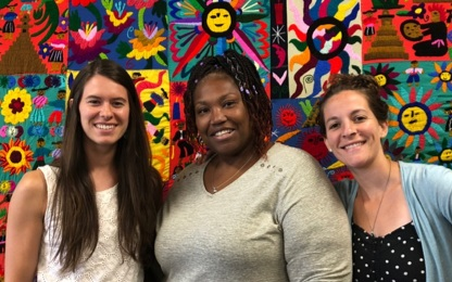 The Journey's End Interpreting Team (Katlyn, Shakira, and Sarah)