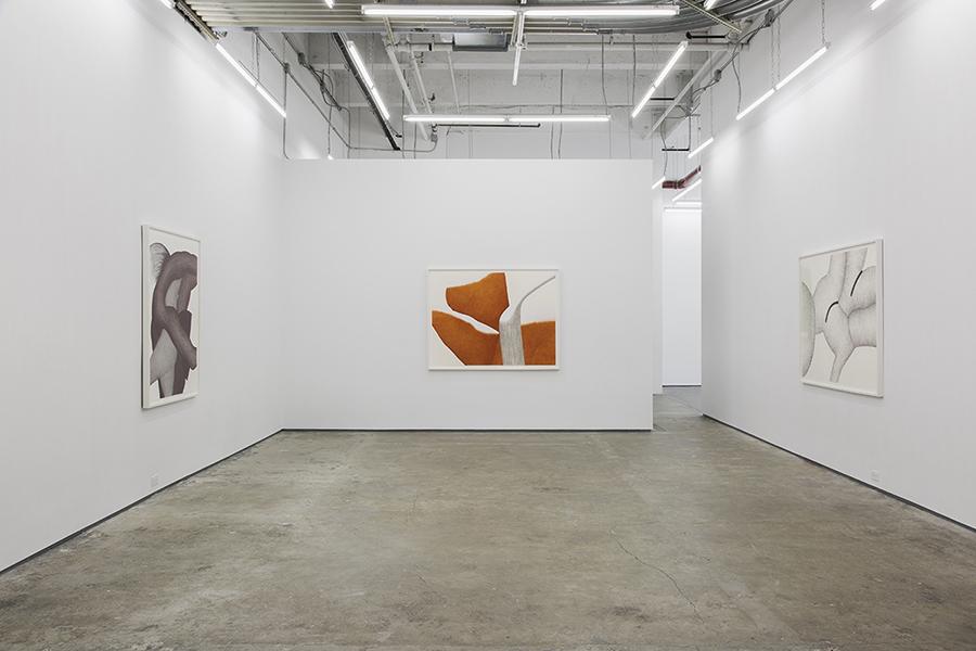 Gallery shot with framed artwork