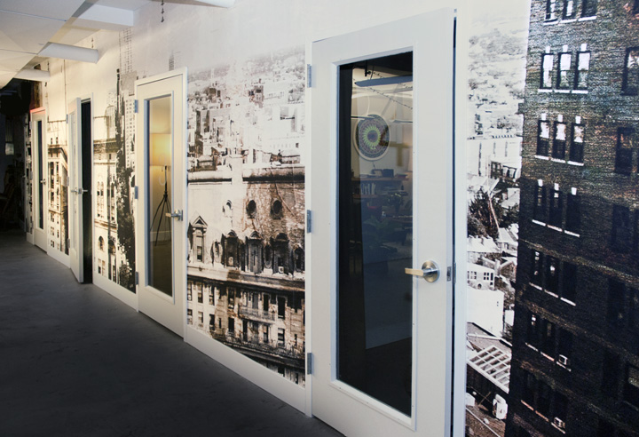 Culture Works Philadelphia , two wall-vinyl photographic murals, commissioned for a co-working space in Center City at The Philadelphia Building.