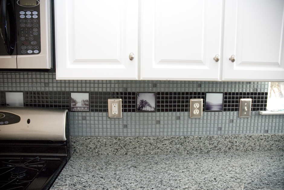 A photographic tile backsplash commissioned for a kitchen in New Jersey.