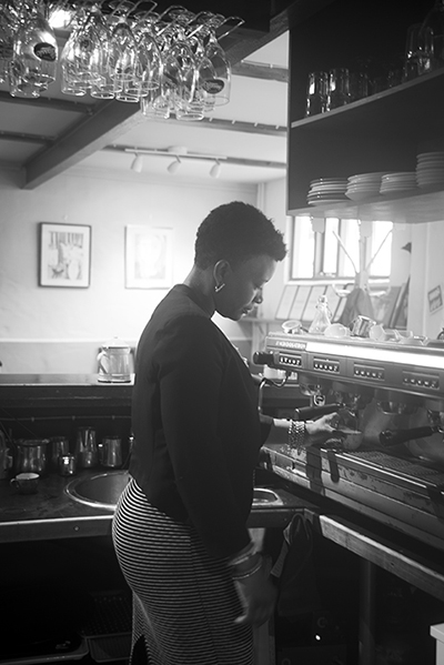 A Haitian chef and cafe owner in Reykjavik, Iceland.
