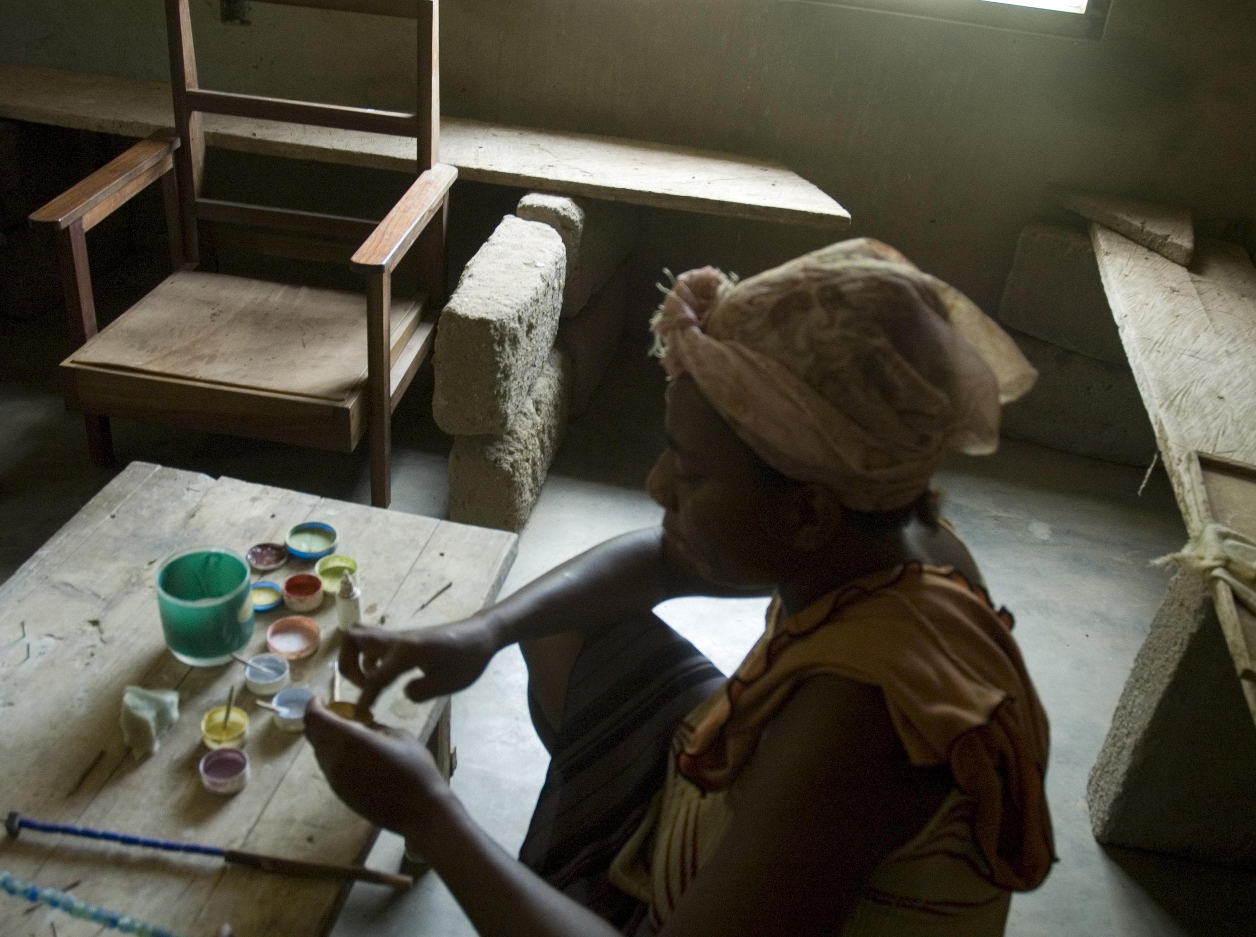 Bead-maker, Ghana.