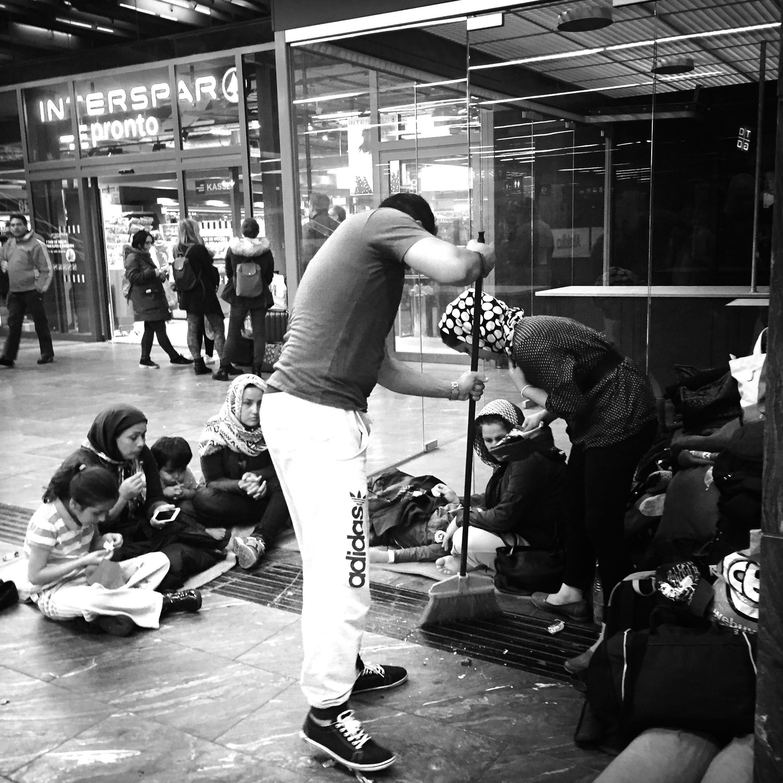 Syrian Refugees, Vienna, Austria.