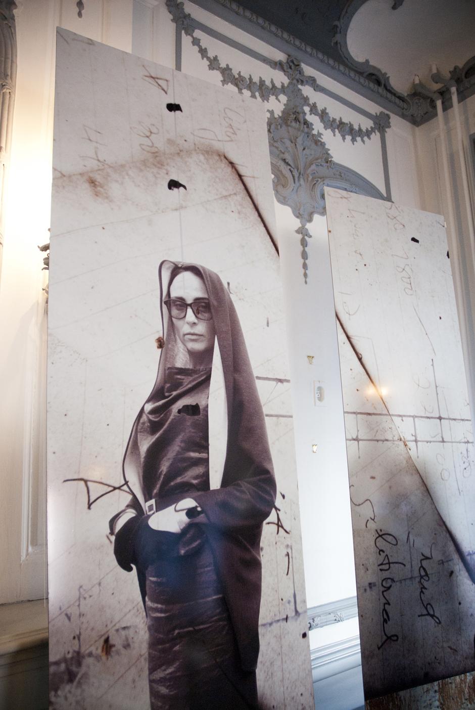 Surface, Fashion . Wallpaper panels depicting the work of  Bela Shehu . Cityspace, Philadelphia, 2014.