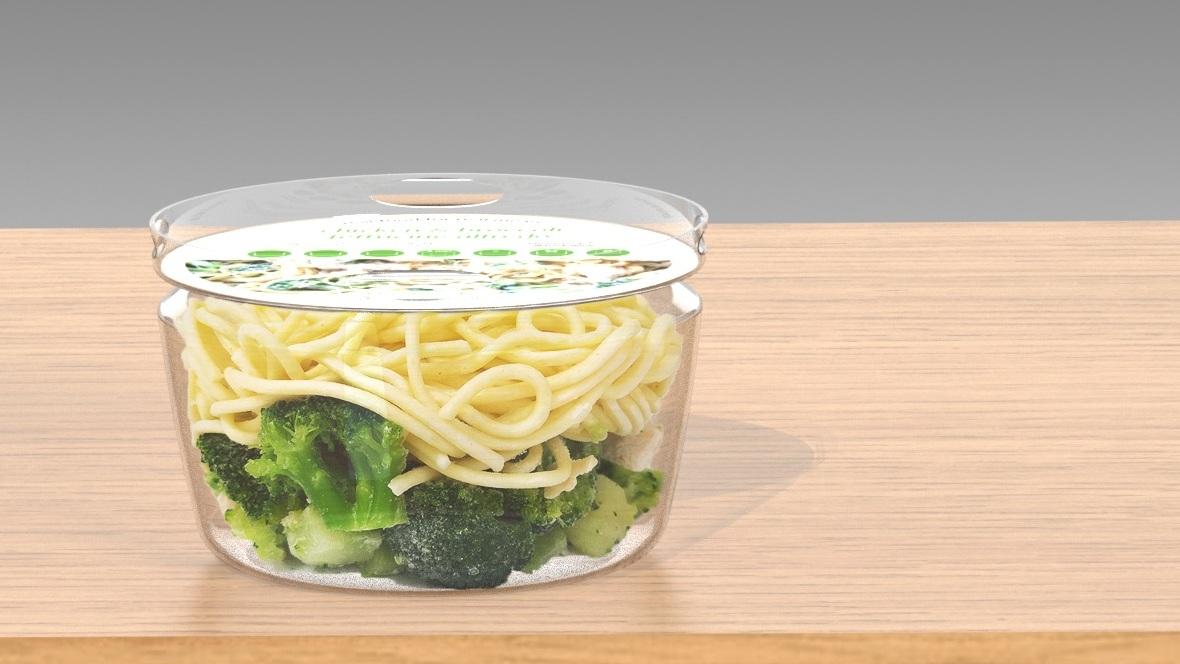 Reducing waste in frozen food packaging -