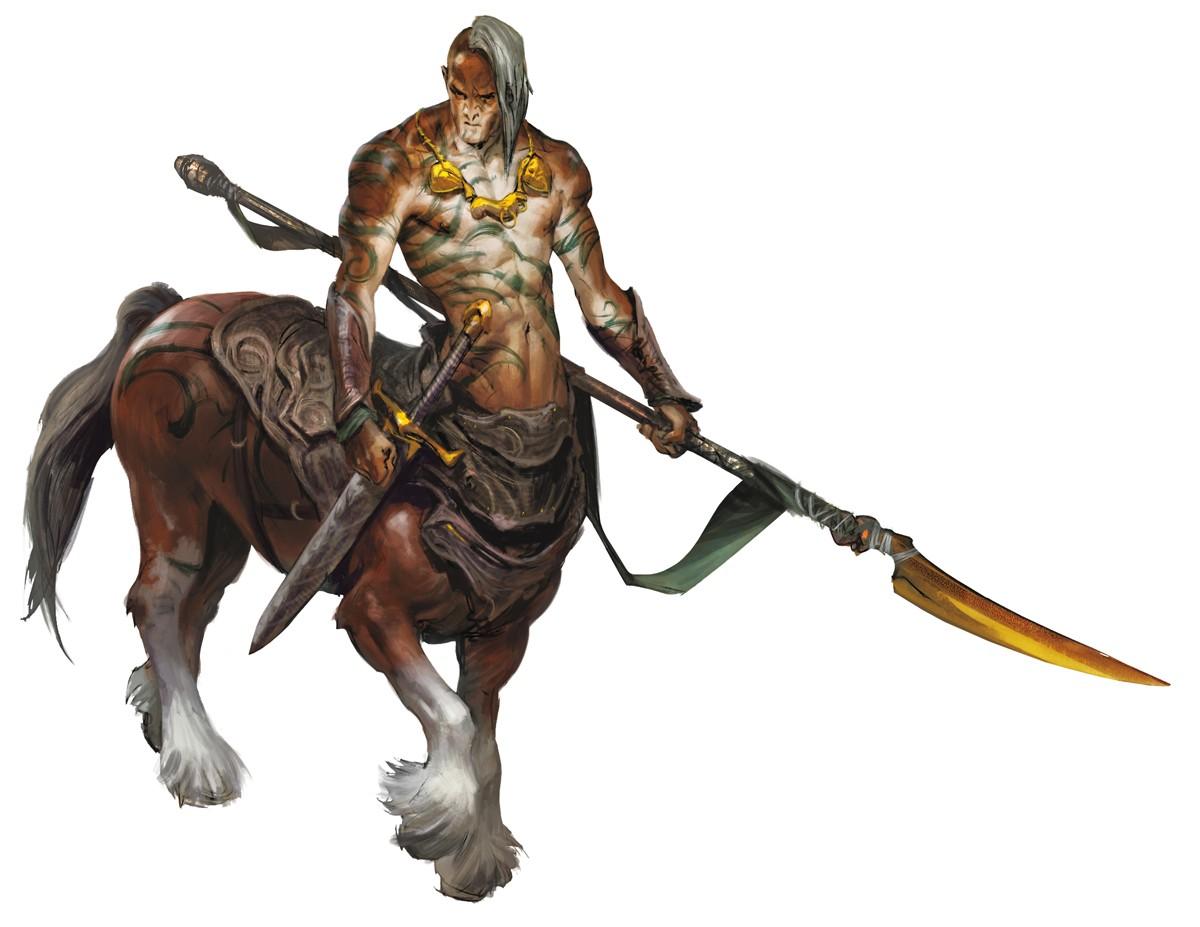 Centaur holding a spear