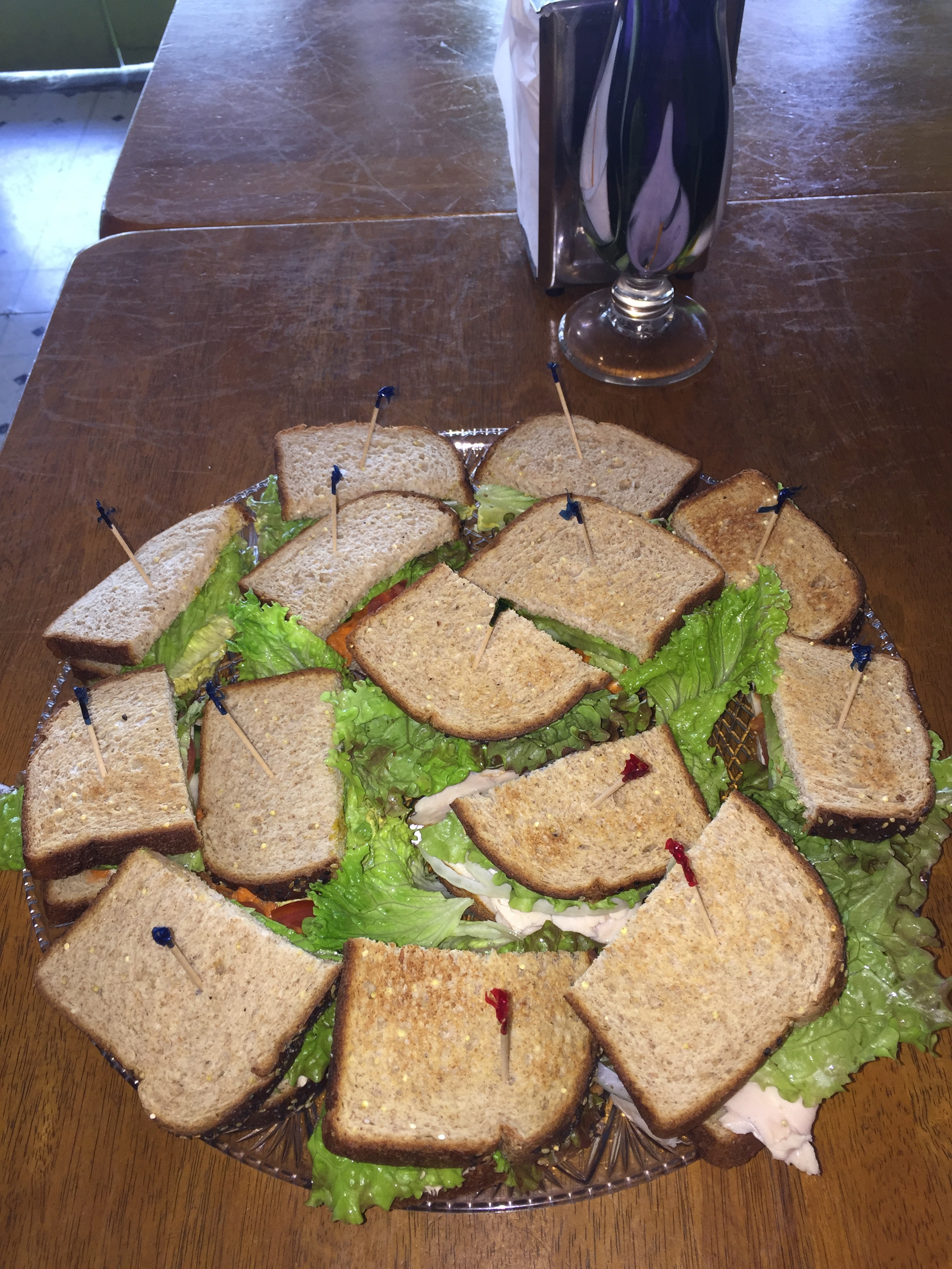 Sandwich platter for local business.