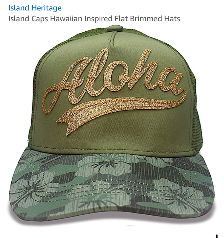 party aloha hat. perfect.