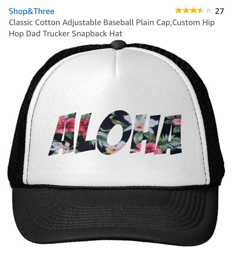 CUTE ALOHA HAT