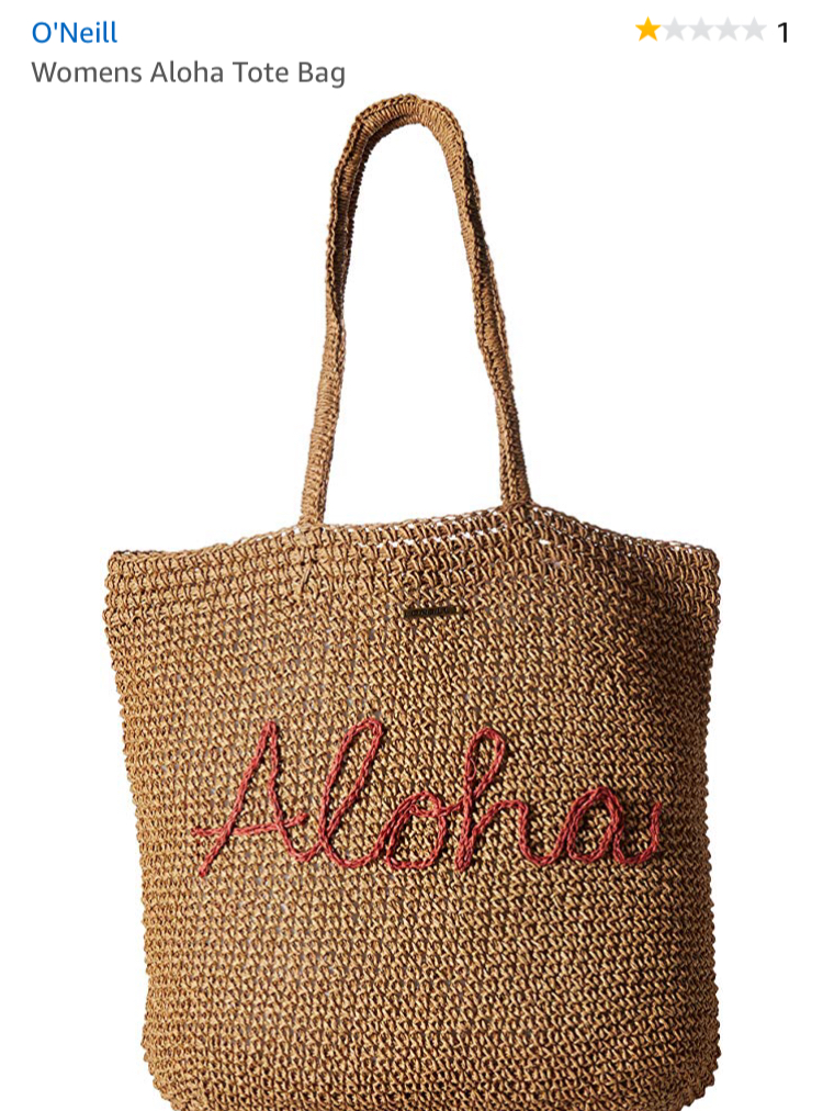 cutest aloha bag. perfect beach bag