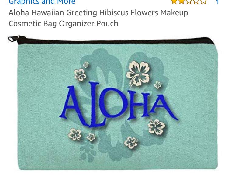 aloha cosmetic bag/pouch
