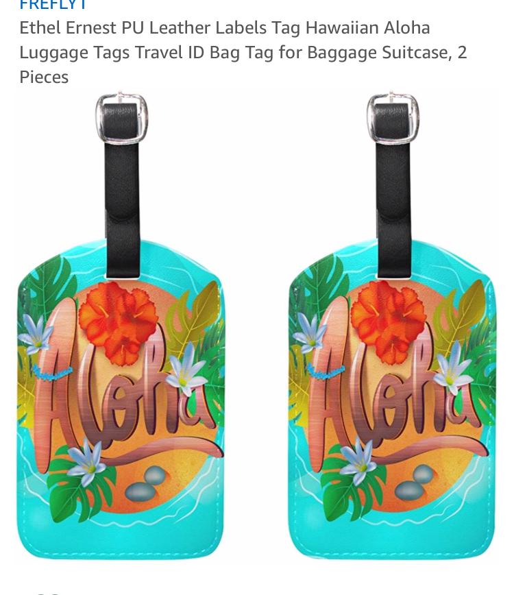 aloha luggage tags.