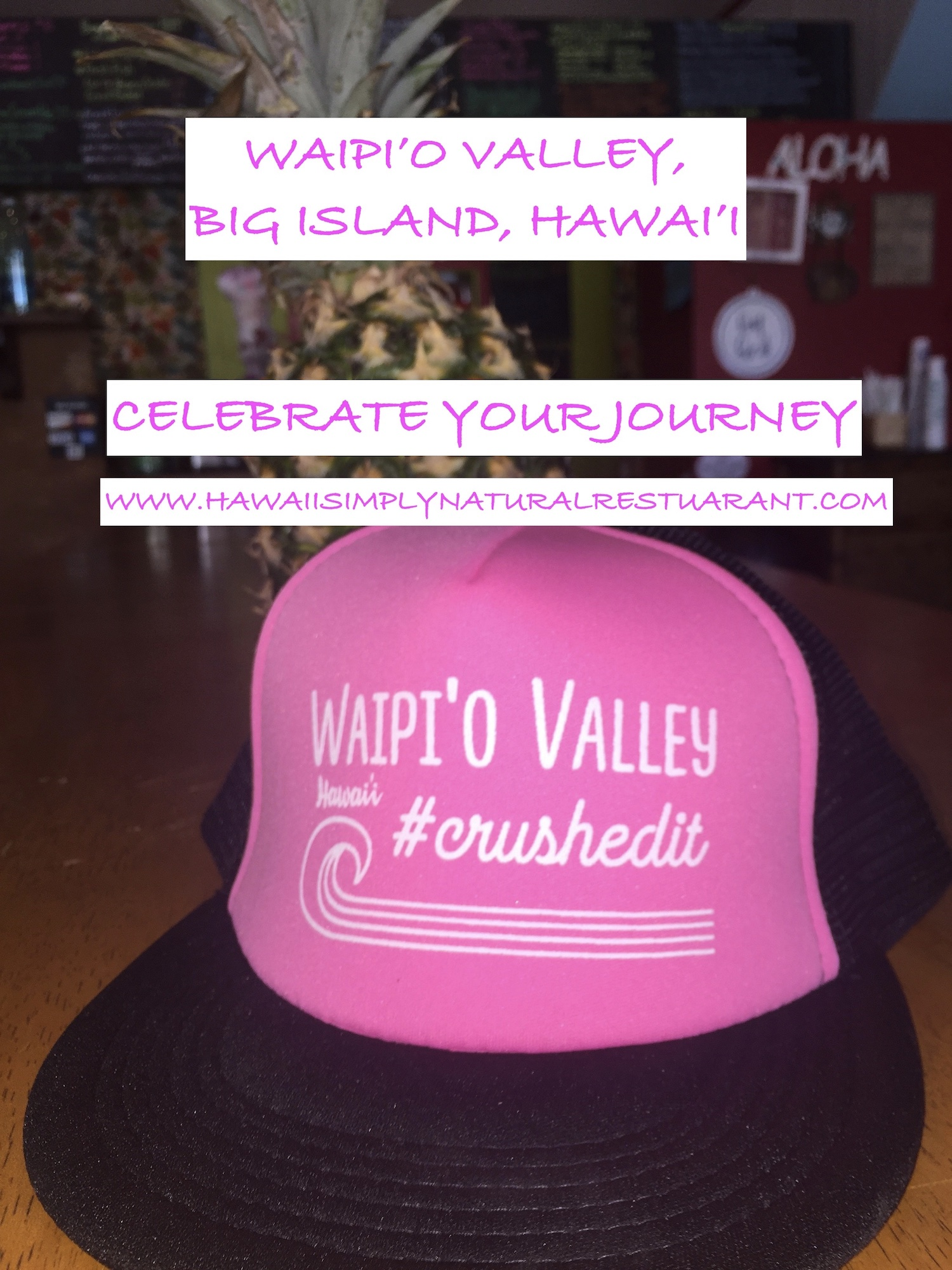 Click the photo to read more on the quote shown below Let's conquer Waipi'o. Celebrate your journey.