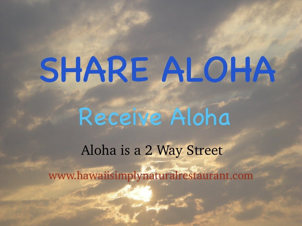 Aloha is not a bottled product but a relationship of cordiality between people.