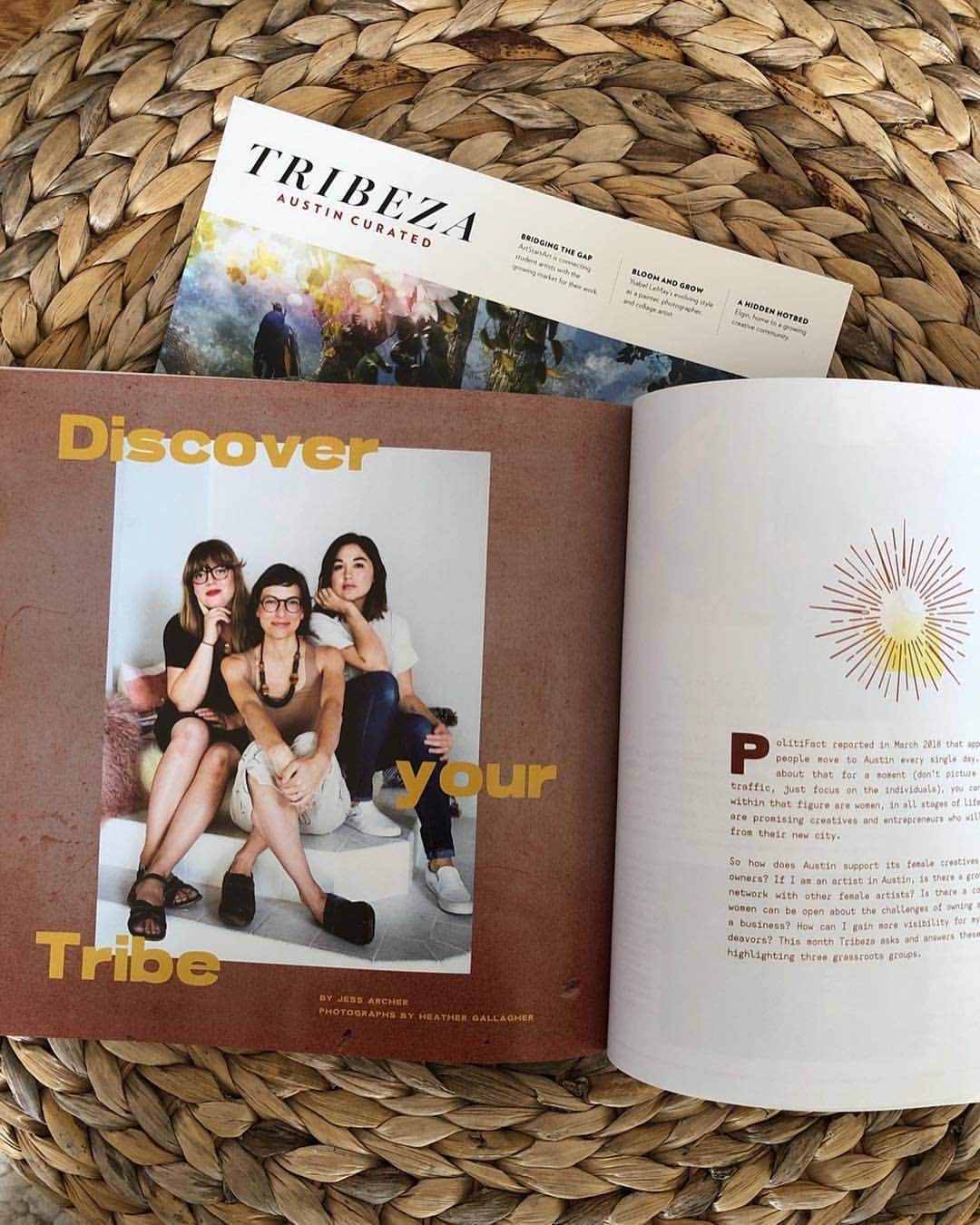 Many of you know the work we do @the_circle_austin. Many thanks and gratitude to @tribeza magazine for including us in their November Arts issue! I'm grateful to have the experience of this group in my life and to work with these talented ladies shown here beside me to support women in small business & entrepreneurship. 〰️ We have learned a lot in the past year & a half building this group & my heart has expanded from it in several ways. Health of mind, body & spirit is what @medicine_kitchen is all about… and @the_circle_austin has still got my spirit like 💫✨💗.   .  .  .  #medicinekitchen #heathergallagherphotography #anakoehler #thecircleaustin #womensupportingwomen #girlgang #womeninbusiness #womenhelpingwomen #bizclub #bizclubforever #tribeza #girlsclub #austinwomen #findyourtribe #findyourmagic  (at Austin, Texas)   https://www.instagram.com/p/Bp0n3PRlmeW/?utm_source=ig_tumblr_share&igshid=1k0qgm1cvpw0s