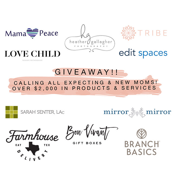 Fun times y'all! Most of you know I have a passion for working with women throughout the entire motherhood experience. Today marks the start of a fantastic giveaway created for one lucky soon to be or new mom out there. 10 Austin women-owned businesses have come together to lift up and pamper one of you - because when mom is taken care of, the whole family wins. I'm happy to be a part of it! See what each business is donating (over $2,000 in value!!) and how to enter below. —