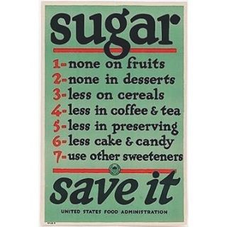 Sugar. It's always a struggle, amiright? Can you believe the US government taught us all to use less sugar back in 1917 with this poster? It's the truth. Granted, it was for rationing purposes related to WW1… but imagine if it were just out of genuine concern for our health and vitality. Imagine if this was the standard in American culture from day one. I think these vintage posters ring true to today's health epidemics and deserve a big comeback. Who's with me?   .  .  .  #foodismedicine #holistichealth #nourishyourself #eatclean #sugar #healthyeating #slowfood #diabetes #healthyliving #foodrules #vintage #sweettooth #cleaneating #foodtherapy #wholefoods #medicinekitchen #detox #nutrition #rulestoliveby #makessense #bettertogether