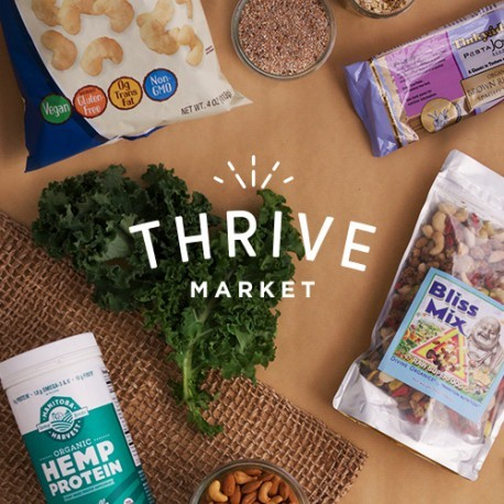 Have you heard of  Thrive Market  yet? Thrive Market is an online supermarket specializing in healthy, organic, hypoallergenic, gluten-free, non-GMO, natural foods and products for your family and home. It's pretty cool. They offer all their products at discounted prices - so you can purchase much the same stuff you might buy from Whole Foods from home online, but with an extra discount on top of it. I find that some products seem to have better prices than others comparatively, but overall I do think it's worth using - especially with free shipping! They even have a 30-day free trial for new customers that offers an additional 25% off your first order. That order alone is worth the free trial! Try using Thrive as a way to set up your ideal, health-oriented kitchen: buy staples like chia seeds, dried goji berries, fish oil supplements, coconut oil, raw honey, medicinal teas, cacao powder, or everyday natural beauty products. These items can really transform your home's potential for keeping the family healthy and well, thriving. :)