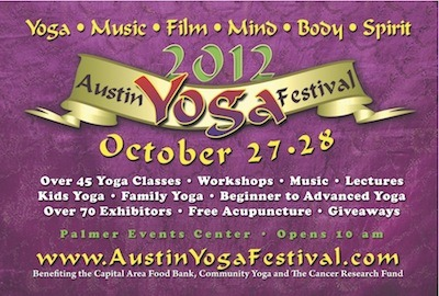 Austin Yoga Festival is this weekend!    I'll be speaking about Traditional Chinese Medicine and Yoga – How they complement each other and how you can use them together in practice.  Catch my talk at 12:00PM Saturday, October 27th on the outdoor stage!  While you're there, take a yoga class or browse all the local vendors at the beautiful Palmer Events Center.    Hope to see some familiar faces there. xo