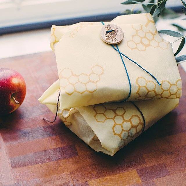 Beeswrap beeswax reusable wrapping & food storage, plastic-free.